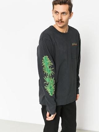 Stussy Leaves Ls Sweatshirt (charcoal)