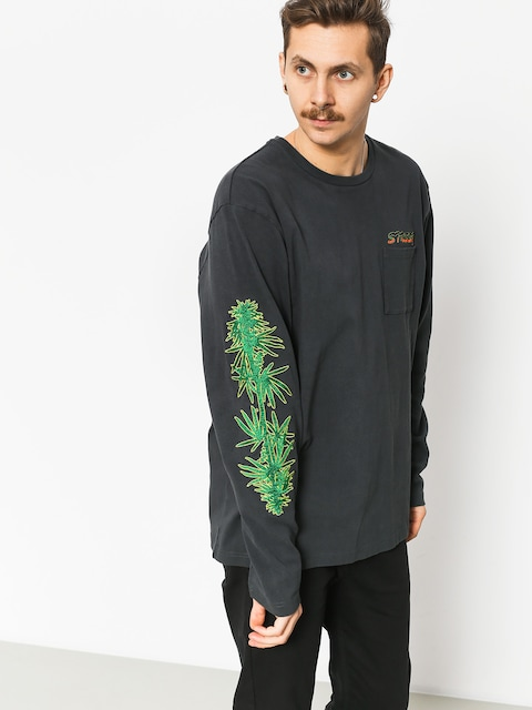 Stussy Leaves Ls Sweatshirt (charcoal)