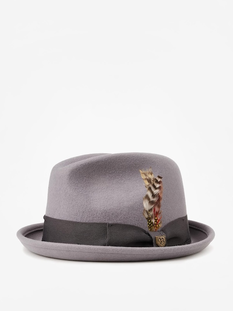 Brixton Gain Fedora Hat (light grey/charcoal)