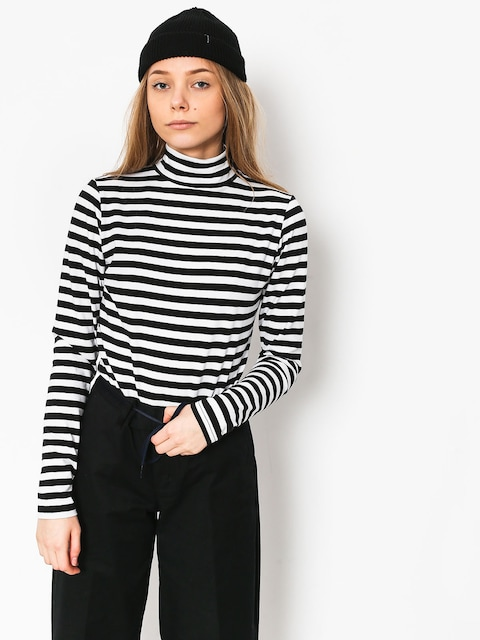 The Hive Stripes Turtleneck Longsleeve Wmn (black/white)