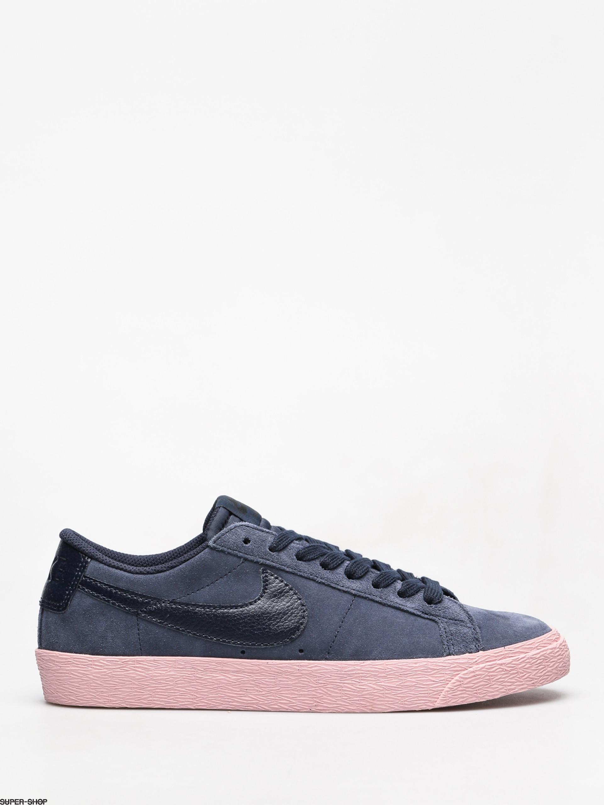 Nike SB Sb Zoom Blazer Low Shoes (obsidian obsidian bubblegum) 4664ebcc6
