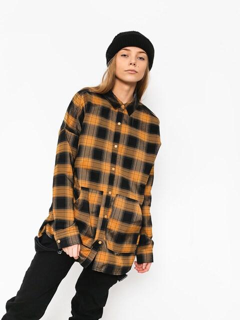 Burton Teyla Flannel Shirt Wmn (camel muirwds pld)