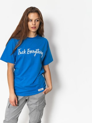 Diamante Wear Fuck Everything T-Shirt Wmn (blue)