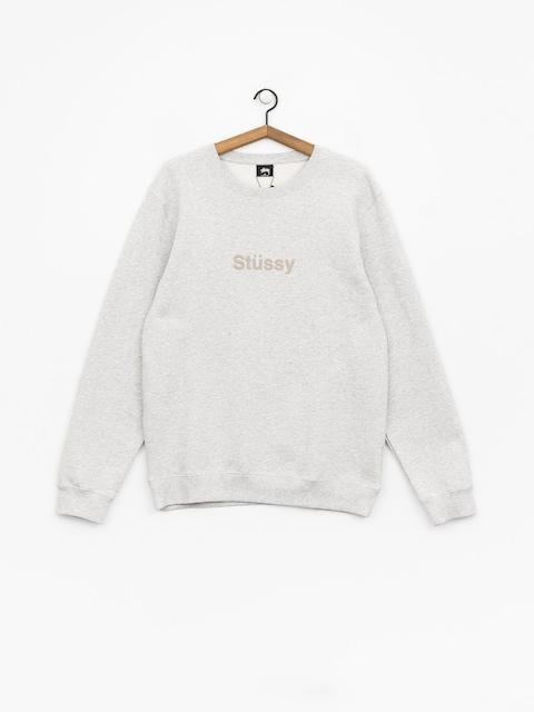 Stussy Weld App Sweatshirt (grey heather)