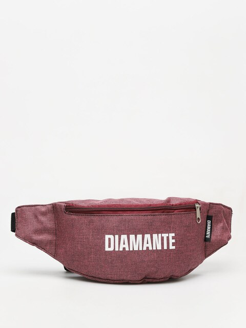 Diamante Wear White Logo Bum bag (maroon)