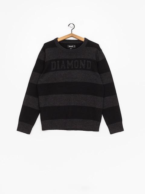 Diamond Supply Co. Striped Wool Sweater (black)