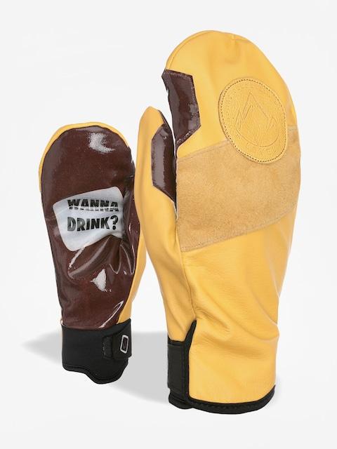 Level Pro Rider Mitt Gloves (brown)