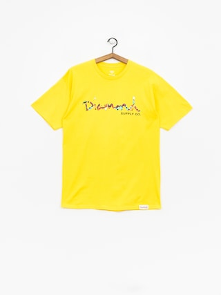 Diamond Supply Co. Og Script Fasten T-shirt (yellow)