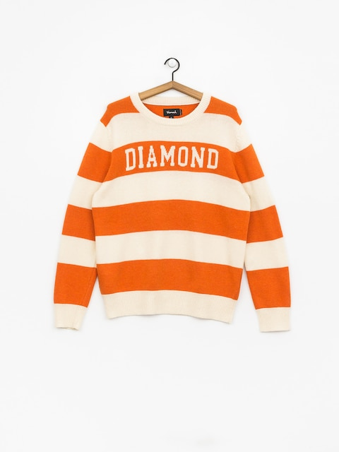 Diamond Supply Co. Striped Wool Sweater (orange)