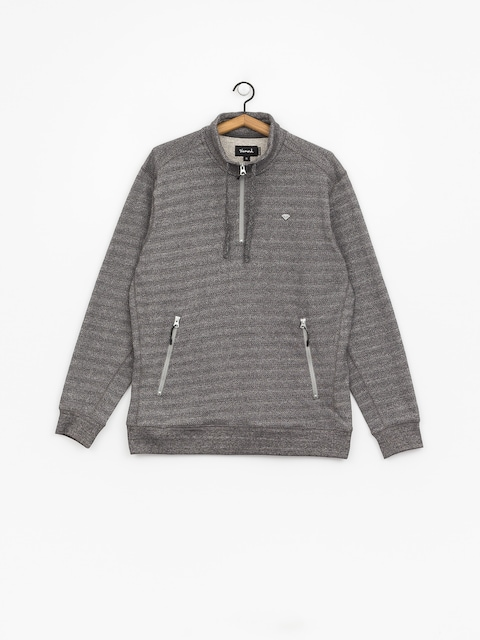 Diamond Supply Co. Diamante Mock Neck HD Hoodie (heather grey)