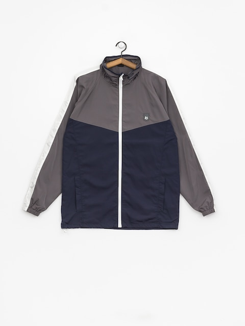 Es Jacket Laps Mock Neck (navy/grey)