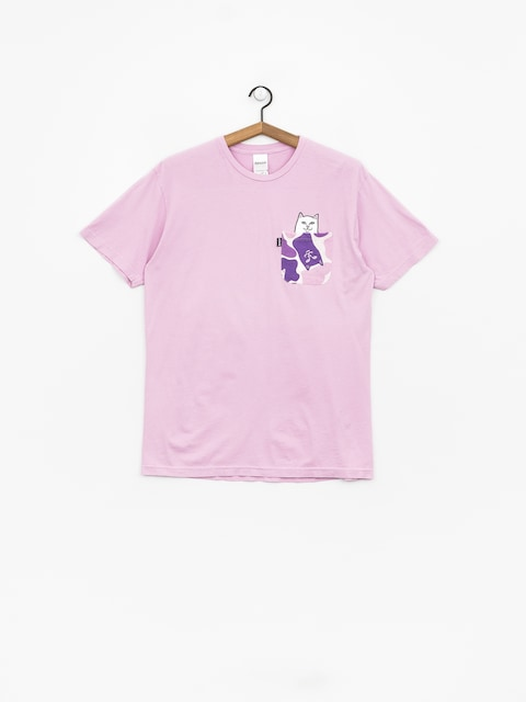 RipNDip Lord Nermal Camo Pocket T-shirt (purple camo)