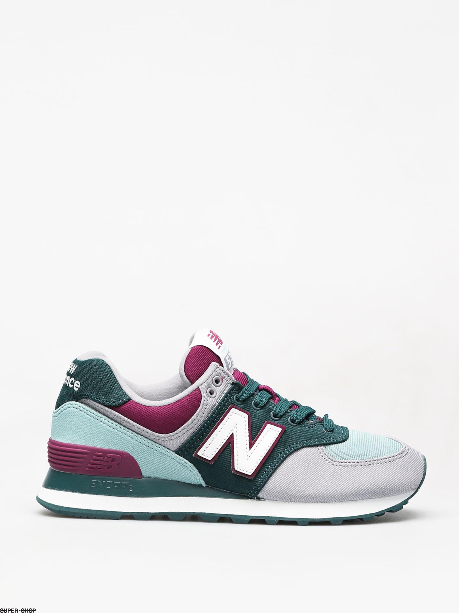 best website 90410 2a886 New Balance 574 Shoes Wmn (deep jade)