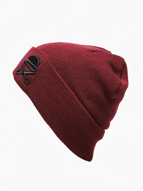 Cayler & Sons Old School Beanie (maroon/white)