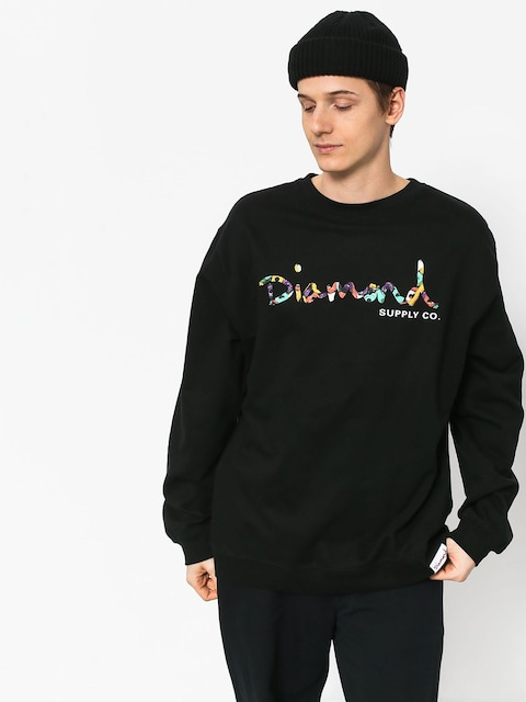 Diamond Supply Co. Og Script Fasten Sweatshirt (black)