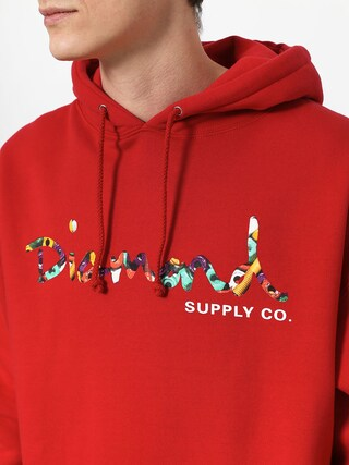 Diamond Supply Co. Og Script Fasten HD Hoodie (red)