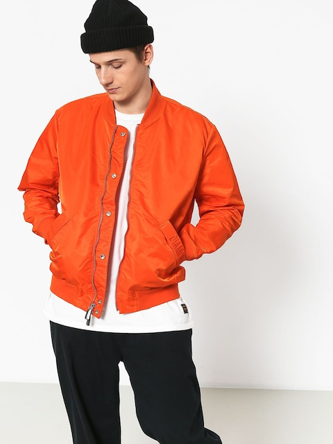 Diamond Supply Co. Panelled Bomber Jacket (orange)