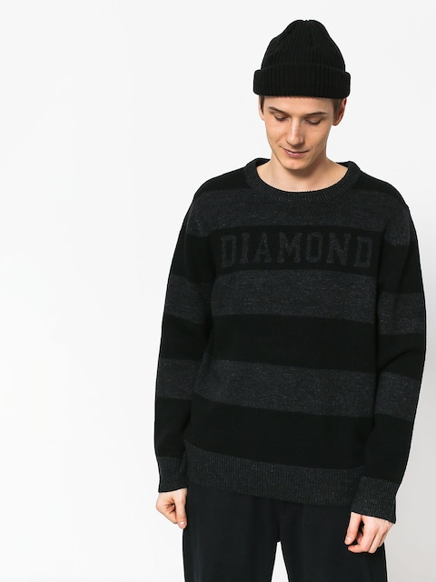 Diamond Supply Co. Striped Wool Sweater (black)