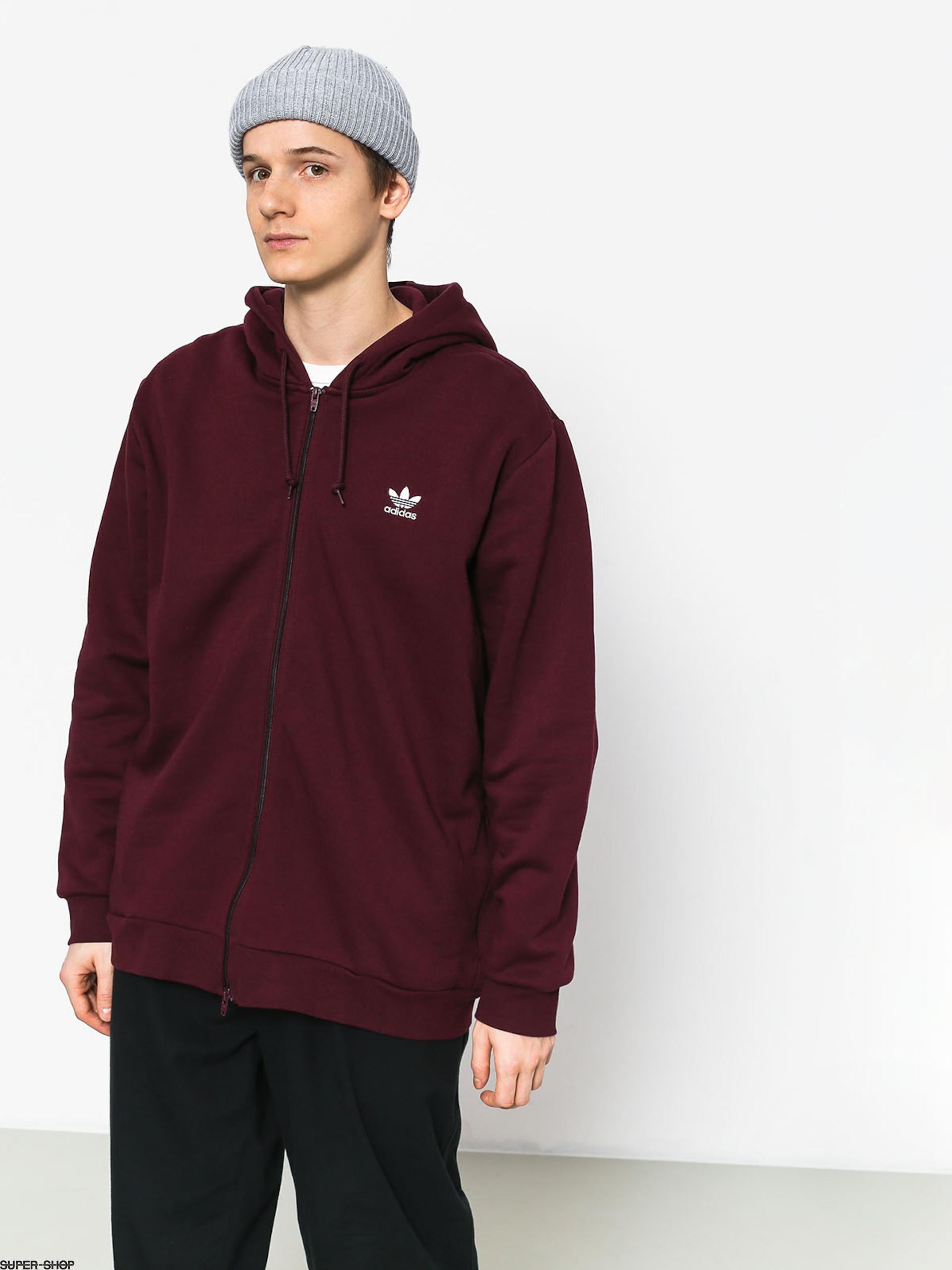 adidas TRF W sweater maroon white