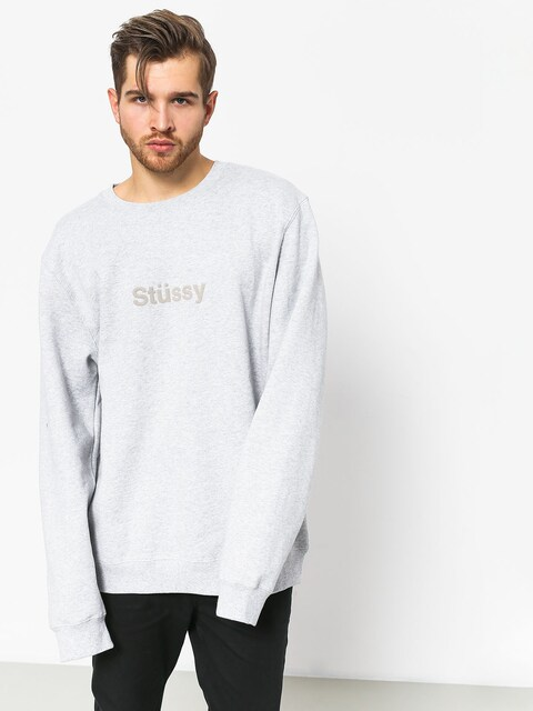Stussy Weld App Sweatshirt (grey heather)