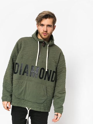 Diamond Supply Co. Quilted HD Hoodie (olive)