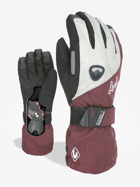 Level Butterfly W Gloves Wmn (bordeaux)