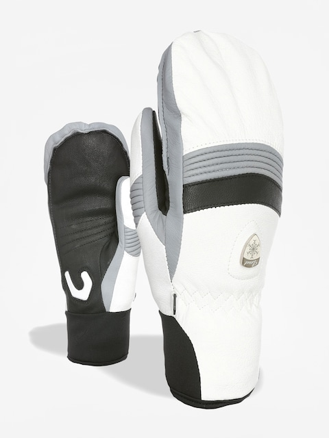 Level Off Piste Leather Mitt Gloves Wmn (white)