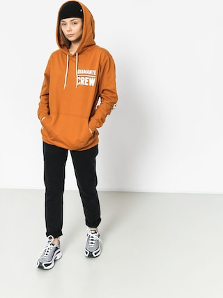 Diamante Wear Diamante Crew Hoody (honey)