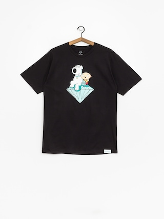 Diamond Supply Co. Stewie And Brian Brilliant T-shirt (black)