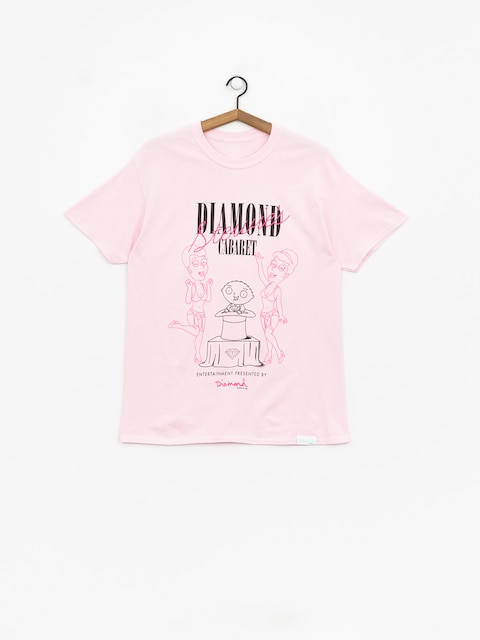 Diamond Supply Co. Stewie'S Diamond Cabaret T-shirt (pink)