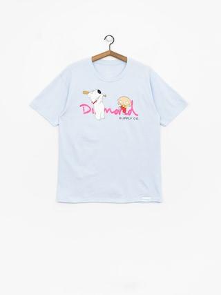 Diamond Supply Co. Family Guy Og Script T-shirt (powder blue)