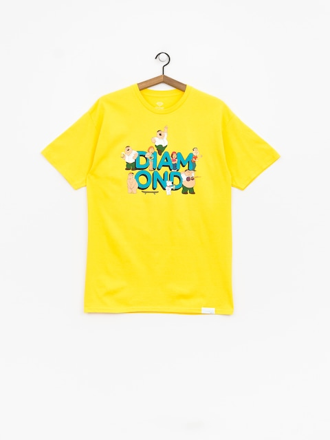 Diamond Supply Co. Diamond X Family Guy T-shirt (yellow)