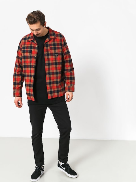 Emerica Pendleton Ls Flannel Shirt (red/navy)