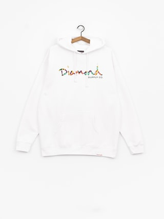 Diamond Supply Co. Og Script Fasten HD Hoodie (white)