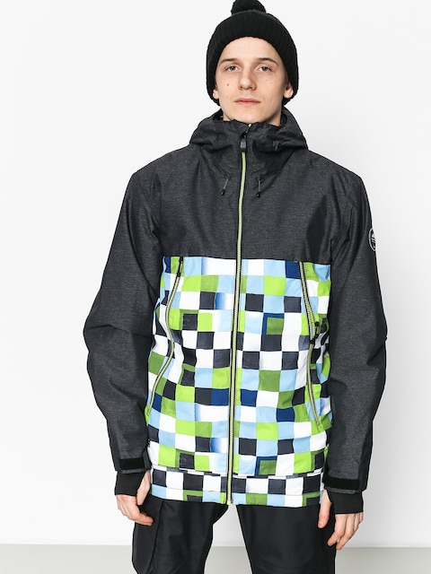 Quiksilver Sierra Snowboard jacket (check atomic green)