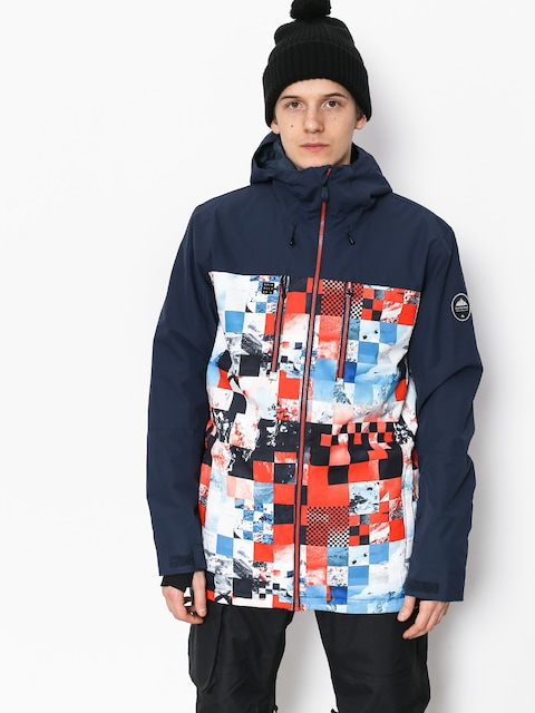 Quiksilver Mission Blck Snowboard jacket (money time flame)