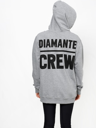 Diamante Wear Diamante Crew Hoodie (grey melange)