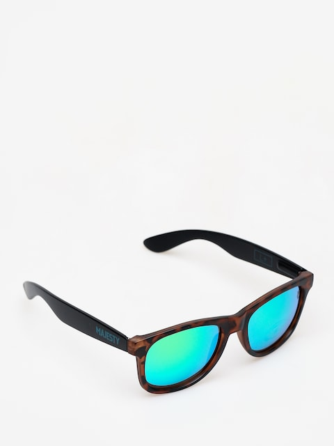 Majesty L Sunglasses (black/tortoise with green emerald lens)