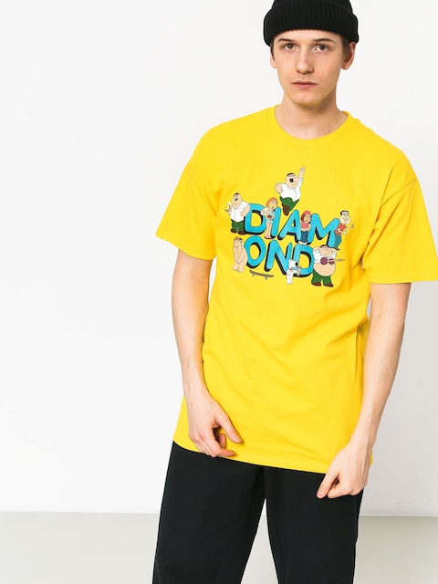 Diamond Supply Co. Diamond X Family Guy T-shirt (yellow)