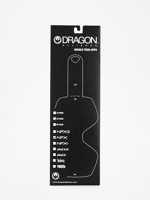 Dragon NFX Goggle Tear-Offs (tear off 20 pack clear)