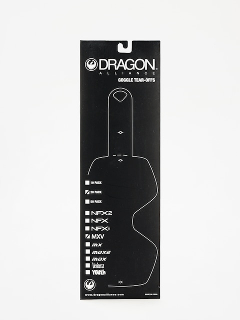 Dragon MXV Goggle Tear-Offs (tear off 20 pack clear)