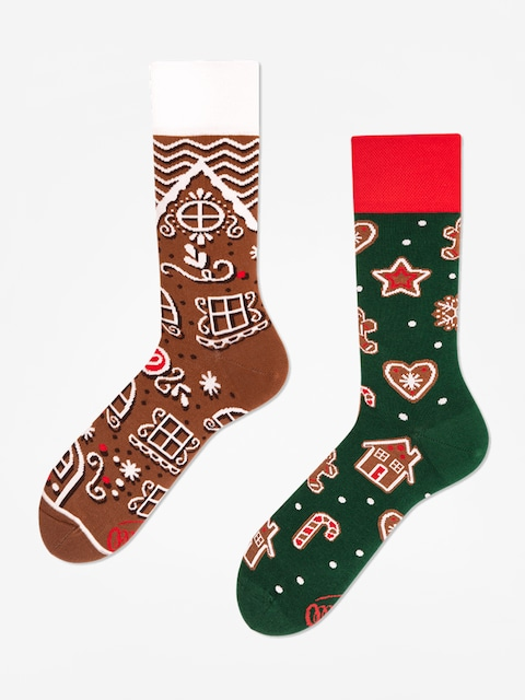Many Mornings The Gingerbread Man Socks (brown/green)