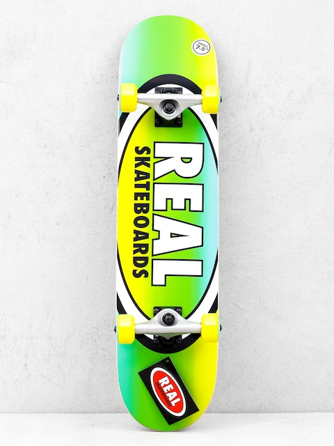 Real Fades Skateboard (yellow/green)