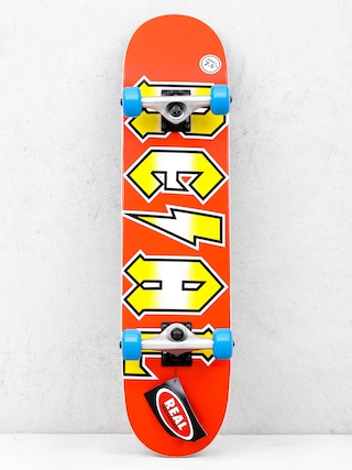 Real Deeds Metallics Skateboard (red/yellow)