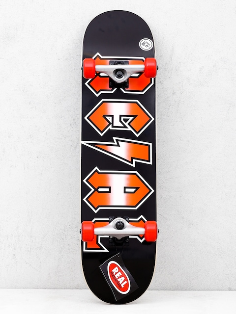 Real Deeds Metallics Skateboard (black/red)