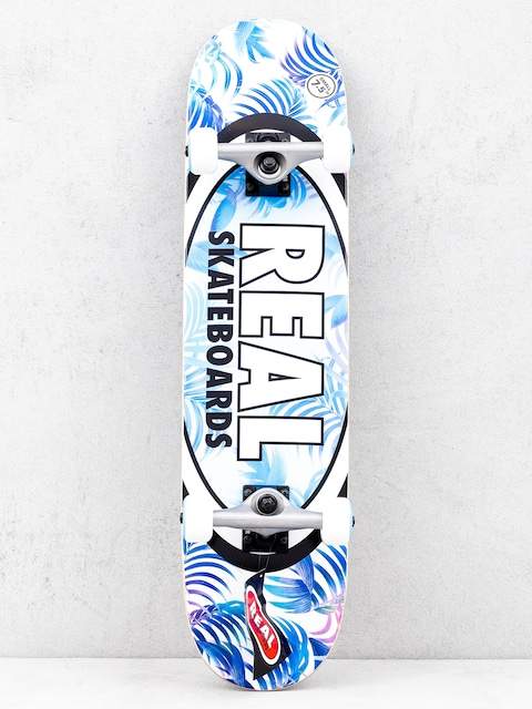 Real Tropics Skateboard (blue/white)