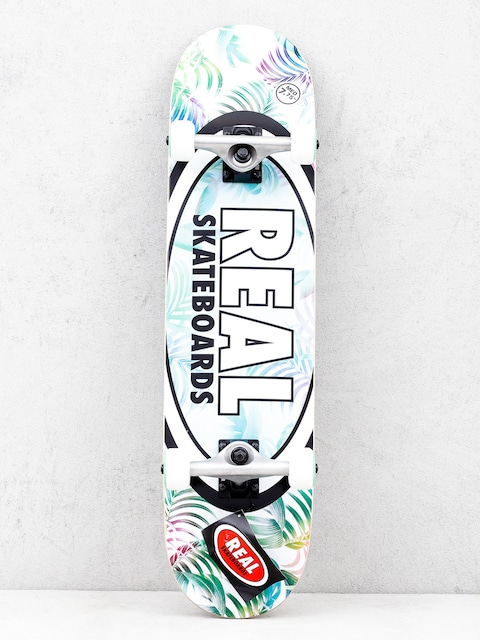 Real Tropics Skateboard (white/green)