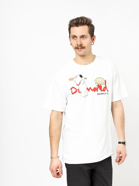Diamond Supply Co. Family Guy Og Script T-shirt (white)