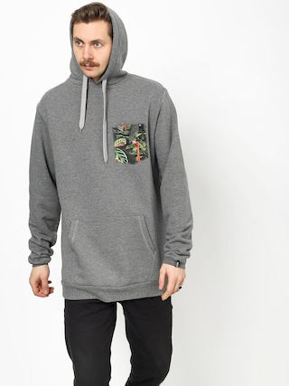 Malita Flamingo Pocket Hoodie (heathergrey)
