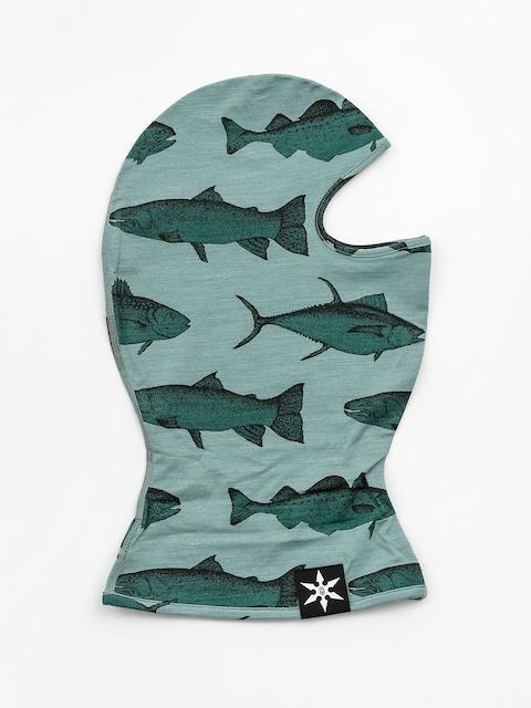 Airblaster Merino Ninja Face Neckwarmer (mint fish print)